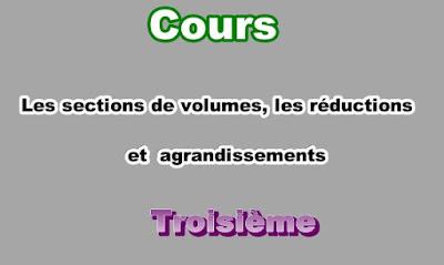 Cours Sur Les Sections de Solides 3eme en PDF