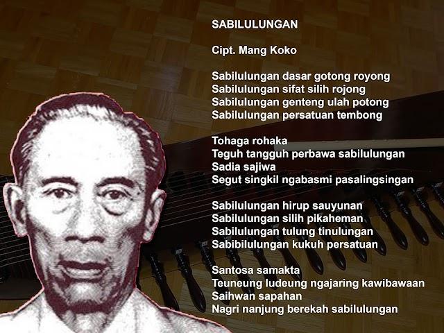Ini Terjemahan Lagu Sunda Sabilulungan Karya Mang Koko
