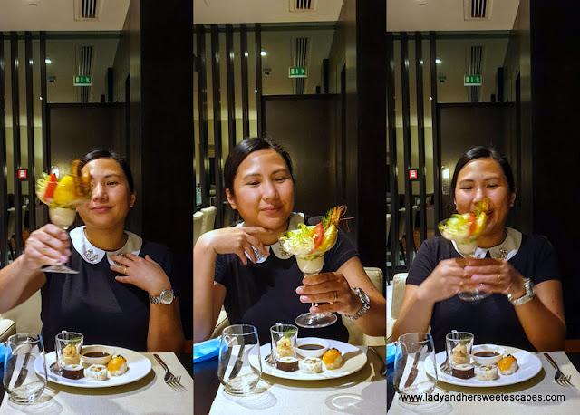 Lady in Medley Pullman Dubai