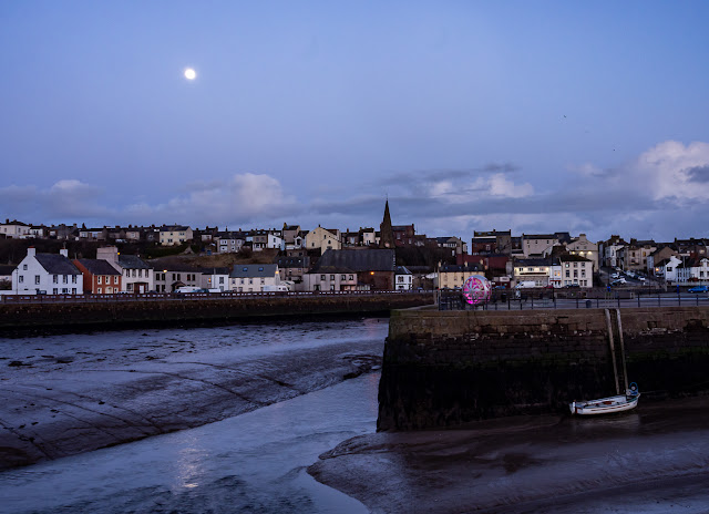 Photo of the mouth of the River Ellen by moonlight