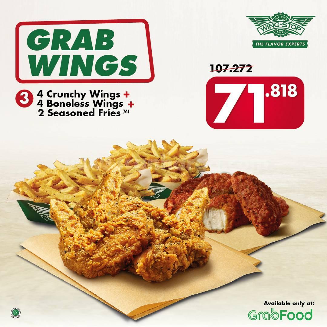 Wingstop Promo Grab Wings [10 Boneless Wings, 1 Seasoned Fries] cuma 71rb