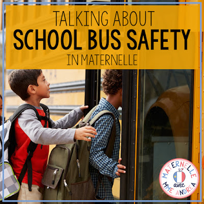 School bus safety is SUCH an important topic, for every grade! Check out this blog post for some maternelle-specific activities you can do with your students to facilitate a school bus safety discussion. FREE bus craft template included! #frenchteachers #maternelle #larentrée
