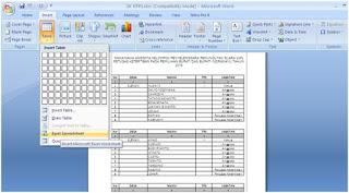 Tips Menyisipkan tabel excel ke Microsoft Word
