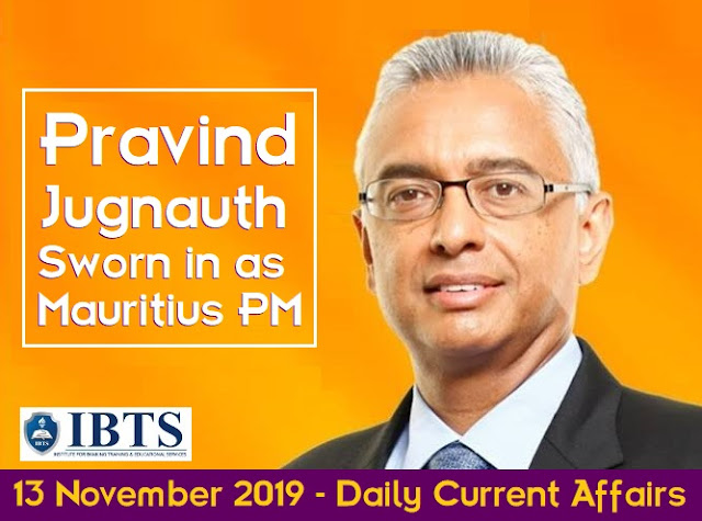 13 November 2019 - Daily Current Affairs