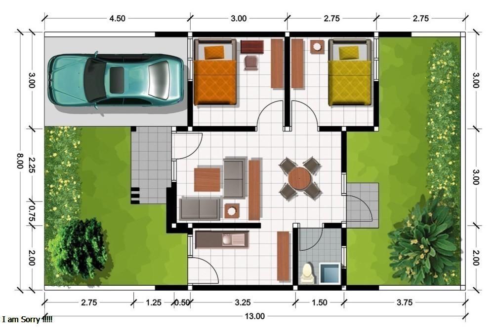 Seperti Inilah Denah Rumah Sehat Minimalis Untuk Keluarga Kecil Desain Rumah Minimalis