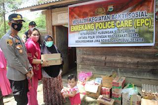 Lewat Program Bakti Sosial EPC, Polres Enrekang Bantu Warga Membangun Usaha