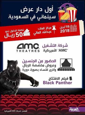 Black Panther is the first movie in Saudi after 35 years of ban lifted