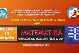 Rpp Matematika Kelas X Sma/Ma Kurikulum 2013 Revisi 2017