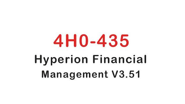 4H0-435 Hyperion Financial Management V3.51 Practice Exam