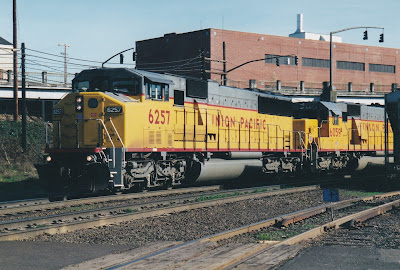Union Pacific SD60M #6257 at Albina Yard in Portland, Oregon