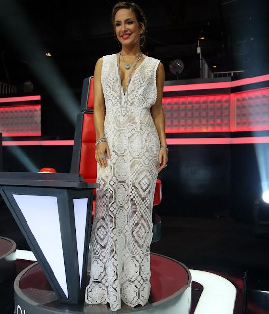 """Detalhes do vestido de Cláudia Leite na final do """"The Voice Brasil 2015"""""""