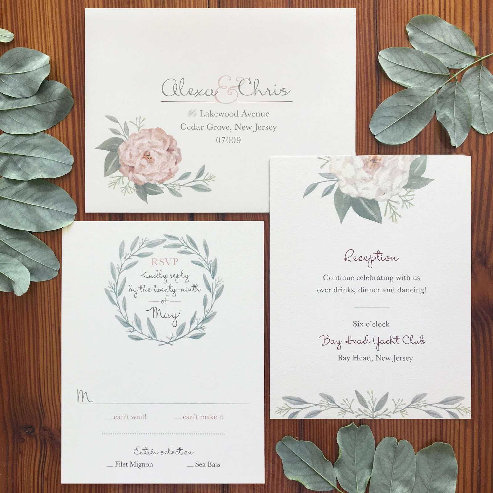 Invitations, Ink, Social Design Studio: Peonies & Eucalyptus Bouquet ...