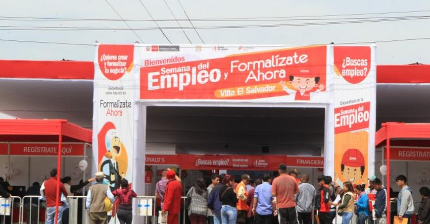 Ministerio de trabajo ofrece más de 10 mil empleos hasta el jueves en Villa El Salvador