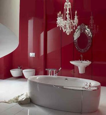 Bathroom+Paint+Ideas-Red+Designs