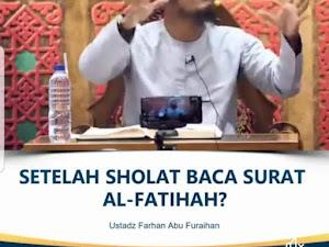 Baca Fatihah Setelah Shalat diamalkan Ibnu Taimiyah