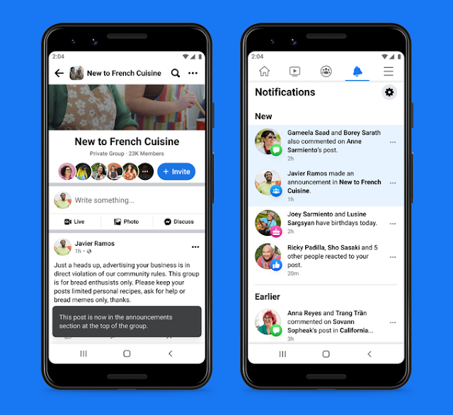 En plus de ce grand ensemble de nouvelles fonctionnalités, Facebook a également apporté des modifications à certaines fonctionnalités existantes