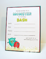 Monster Birthday Bash Invitation-designed by Lori Tecler/Inking Aloud-stamps from Clear and Simple Stamps