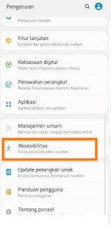Cara aktifkan screenshot menu asisten Samsung a12