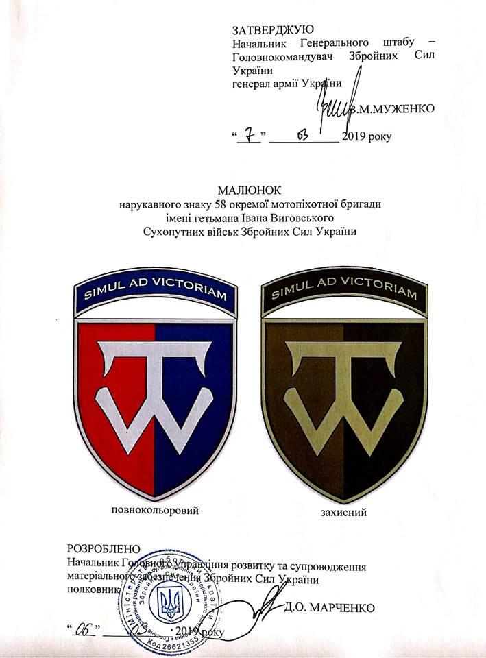 Муженко затвердив нові емблеми бойових бригад