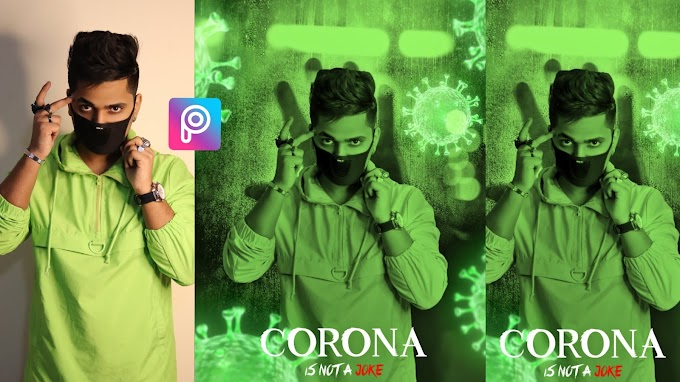 Corona Virus PicsArt Editing Tutorial & Background Download