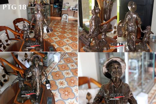 patung penambang,patung freeport,patung my father was a miner