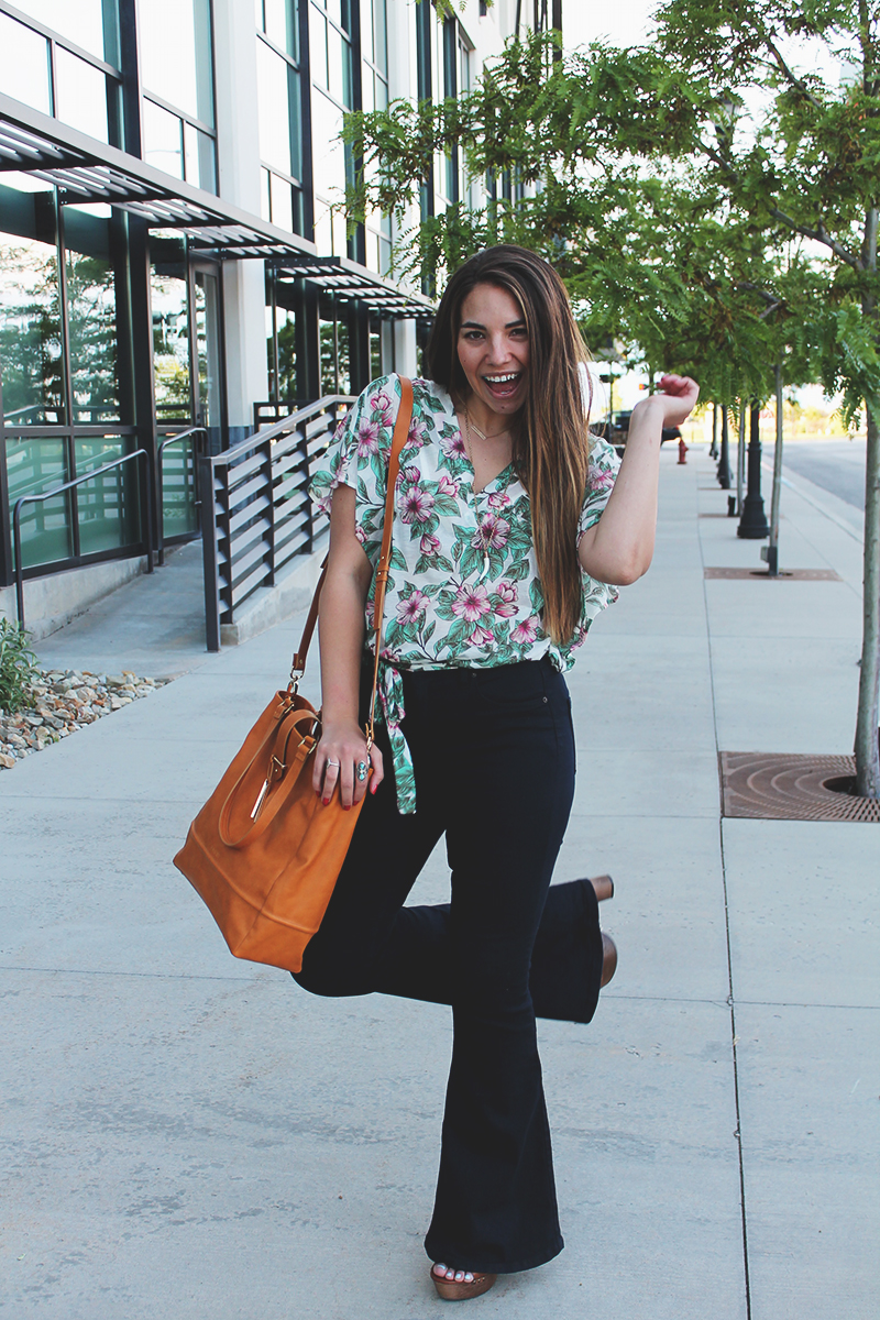 utah blogger, style blogger, free people bell bottoms