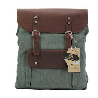 sac à dos toile et cuir véritable
