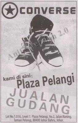 Converse Warehouse Sale 2012 - Plaza Pelangi - Johor Bahru