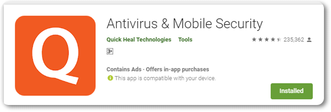 Quick heal antivirus for mobile