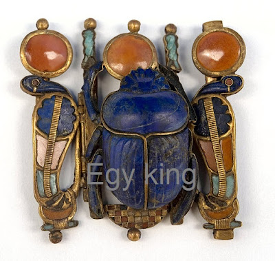 Khepri scarab Clasp Jewelry of King Tutankhamun