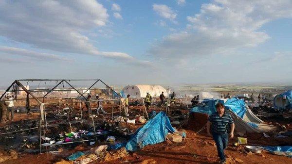 Kamp Pengungsi Idlib Turut di Serang Jet Tempur