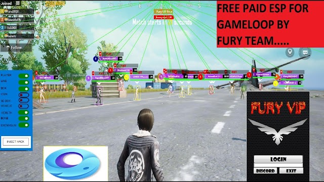 Fury Vip Safe ESP For Gameloop | Safe Free Esp for Gameloop 2020