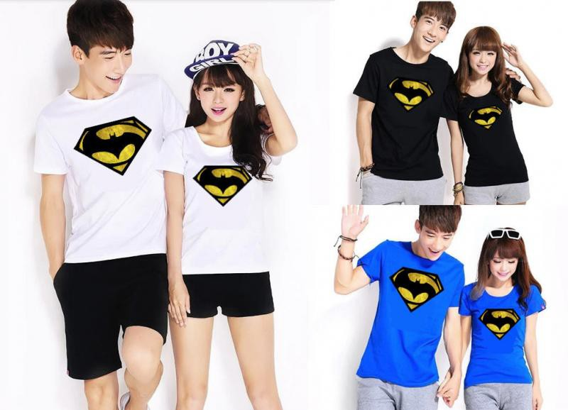 Jual Online Kaos Couple Superman Batman Murah Jakarta Bahan Combed Terbaru