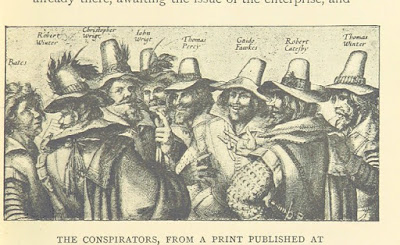 Engraving of the conspirators in the Gunpowder Plot