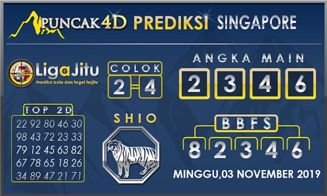 PREDIKSI TOGEL SINGAPORE PUNCAK4D 03 NOVEMBER 2019