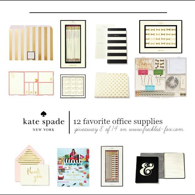 Giveaway 8 14 12 Kate Spade New York Office Favorites