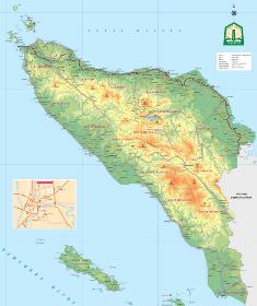 Peta Daerah Provinsi, kota dan kabupaten di Aceh