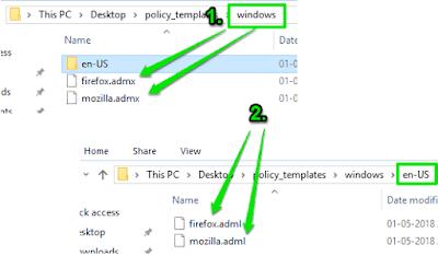 Cara menambahkan dukungan Group Policy ke Firefox-1