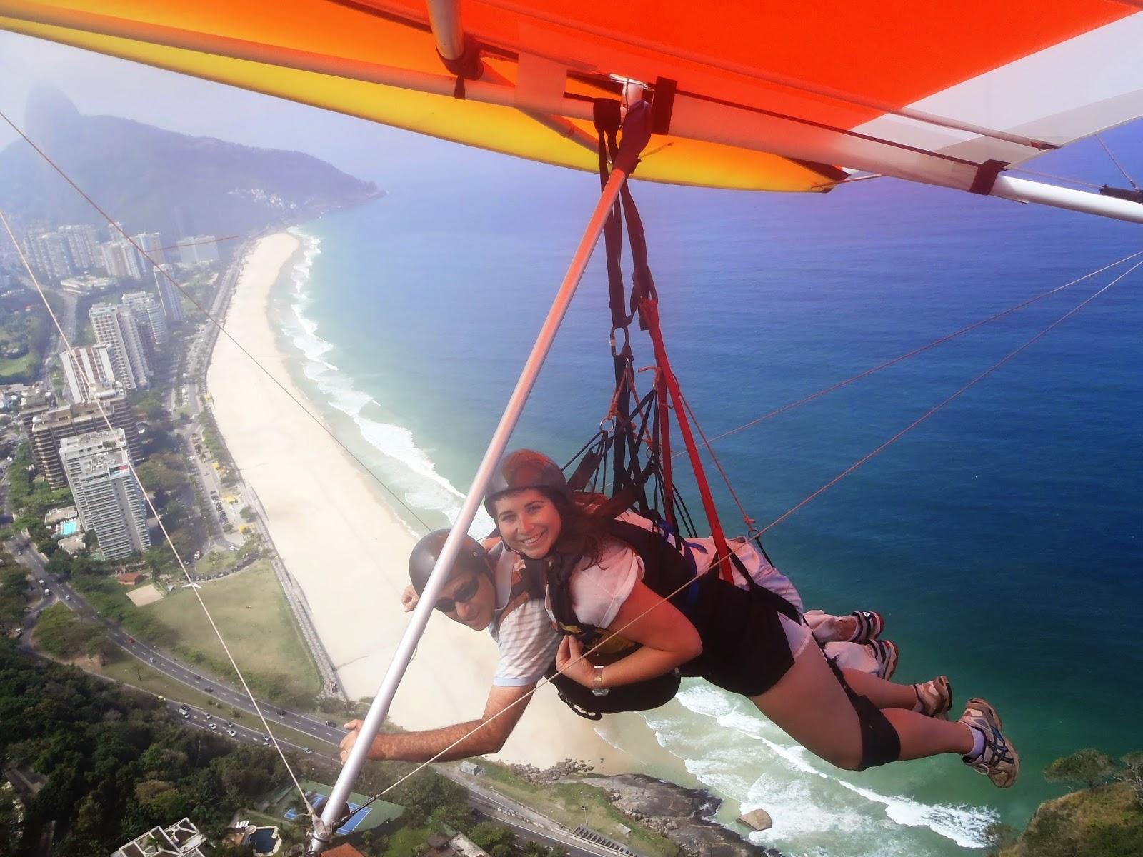 Simone hang Gliding over Rio de Janeiro