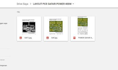 Jawaban Berapakah dimensi PCB  Power Safari 400 Watt