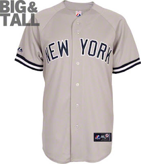 Big and Tall New York Yankees Road Jersey