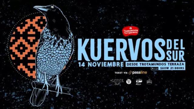 Hoy Kuervos del Sur en concierto vía streaming desde Trotamundos Terraza