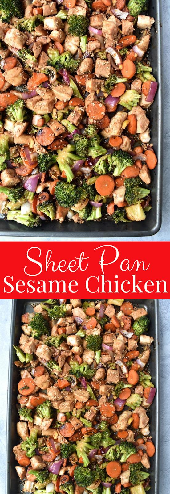 Sheet Pan Sesame Chicken recipe