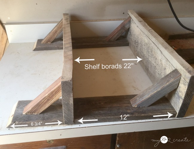 dry fitting wood shelves