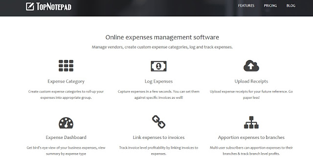 Online expense management system
