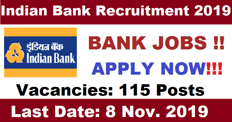 Indian Bank 115 Security Guard Vacancy 2019 - Bank Jobs in ...