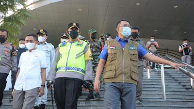 Kunjungi Posko Pengamanan Lebaran, Gubernur NTB Ingatkan Penerapan Prokes
