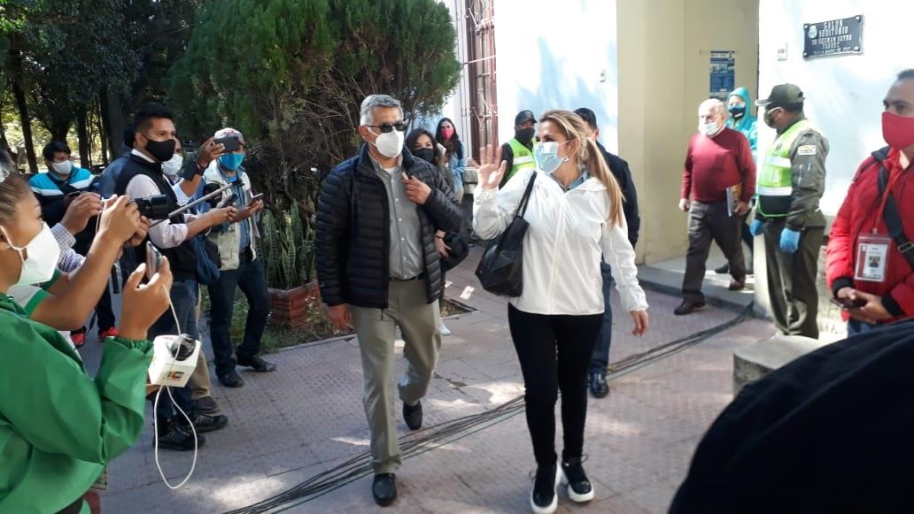 La presidenta Añez se encuentra abocada a la lucha contra la pandemia en los nueve departamentos / ABI