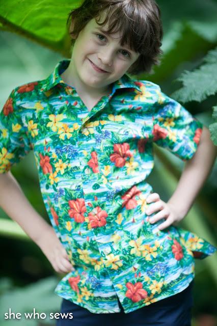 floral boys shirt