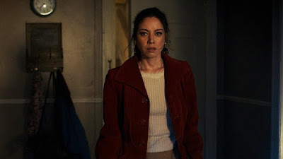 Aubrey Plaza is scared for her life in a movie still for 2019's Child's Play remake
